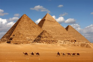 Pyramids lined with the stars....Heaven and Earth.